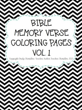 Memory Coloring Pages Bible Verses Worksheets Teaching Resources Tpt