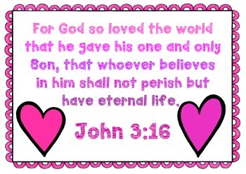 Bible Memory Verse John 316 Activities And Poster By Play And Learn