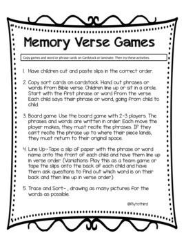 Bible Memory Verse Pack