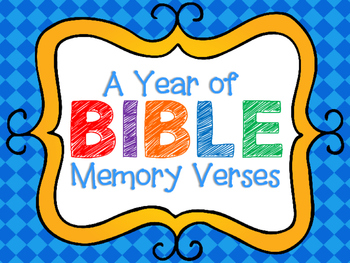 Bible Memory Verse Posters