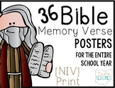 Bible Memory Verse Posters [for the entire school year!] N