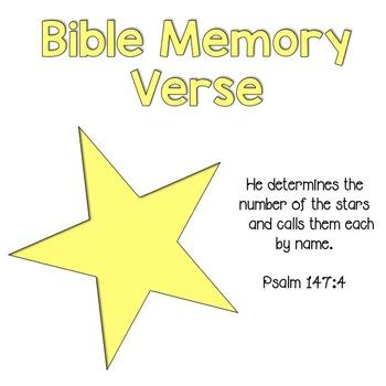 Bible Memory Verse {Psalms 147:4}
