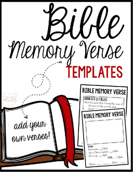 Bible Memory Verse Templates