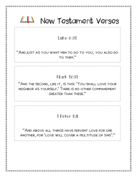 Bible Memory Verses on Love