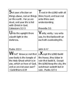Bible Memory Verses A-Z