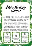 Bible Memory Verses Pack - Tropical Leaf