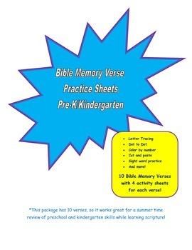 Bible Memory Verses Workbook
