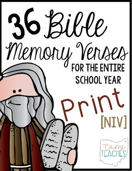 Bible Memory Verses [for the entire school year!] NIV Prin