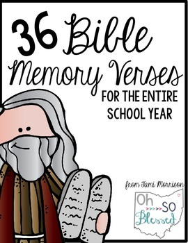 Bible Memory Verses [for the entire school year!]