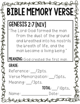 Bible Memory Verses for the entire year! [NIV Print BUNDLE!]