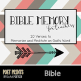 Bible Memory for Teachers