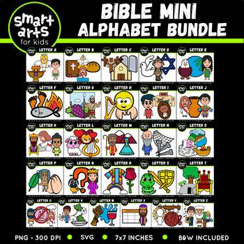 Bible Mini Alphabet Clipart Bundle