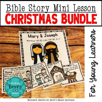 Bible Mini Lessons - Christmas Bundle