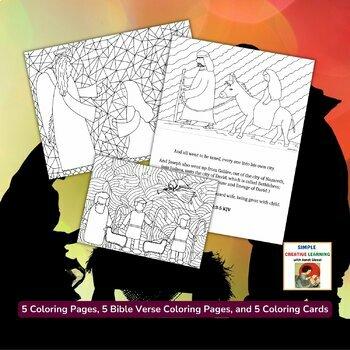 Bible Nativity Coloring Set
