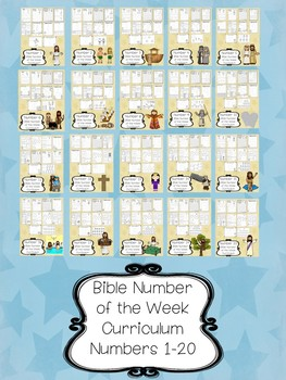 Bible Number Curriculum. Bible Number of the Week Worksheets.