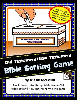 Bible Old Testament/New Testament Sorting Game