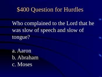 Bible Olympics Jeopardy