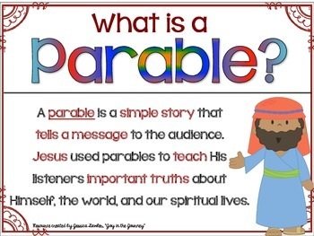 Bible Packet: Parables of Jesus Interactive Notebook Foldables