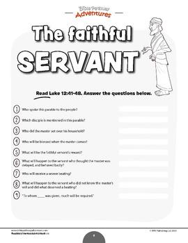 Bible Parable: The Faithful Servant