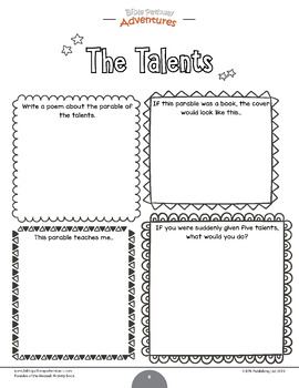 THE PARABLES Posters | Coloring Pages | Bible Story Lesson ... | 350x270