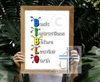 """Bible Poster """"Basic Instructions Before leaving Earth."""""""