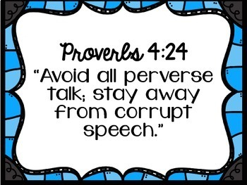 Bible Posters: Powerful Proverbs for Building Character