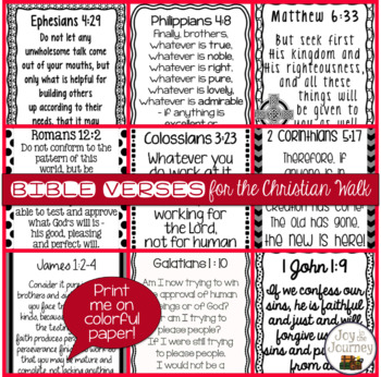 Bible Posters: Verses for the Christian Walk