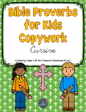 Bible Proverbs for Kids Handwriting Practice in Cursive