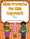 Bible Proverbs for Kids Handwriting Practice in Print