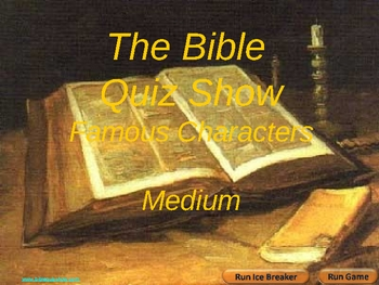 Bible Quiz Show -Famous Characters Medium