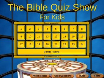 Bible Quiz Show  For Kids Difficult