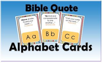 Bible Quote Alphabet Cards