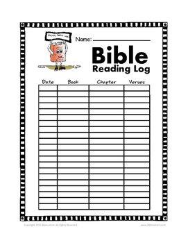 Bible Reading Log by Biblecation