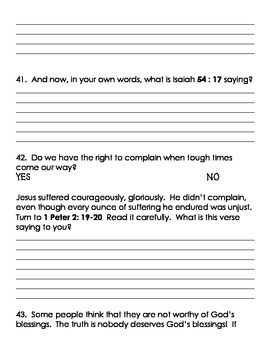 Bible Reflection Packet
