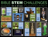 BIG Bible STEM Growing Bundle!  Zacchaeus, Goliath, Noah, Nehemiah, & MORE