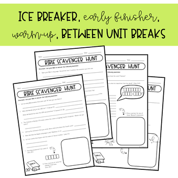 Bible Scavenger Hunt Bundle (Ice Breaker)