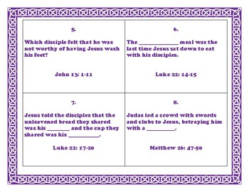 Bible Scavenger Hunt - Lent