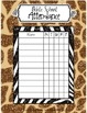 Bible School - VBS Jungle Safari Attendance Posters