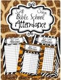 Bible School - VBS Jungle Safari Attendance Posters