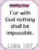 Bible Scripture Memory Verse Activities   Week One