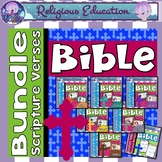 Bible Scripture Verse Bundle Posters and Worksheets