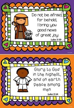 Download Bible Scripture Verse Mini Posters #3 Advent Christmas ...