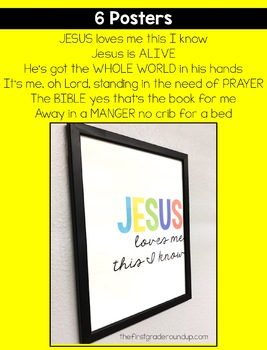 Bible Song Lyric Posters