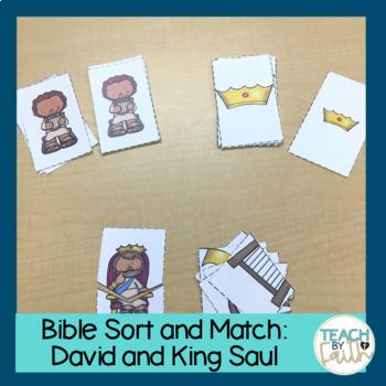 Bible Sort and Match: David and King Saul