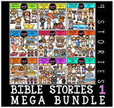 Bible Stories 1 Clip Art Mega Bundle Clip Art Bundle {Educlips Clipart}
