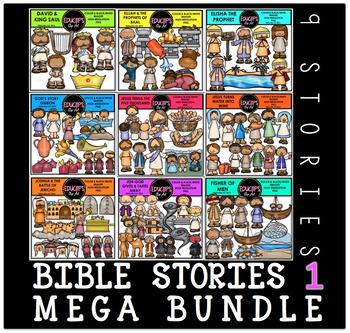 Bible Stories 1 Clip Art Mega Bundle Clip Art Bundle {Educlips Clipart}