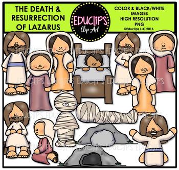 Bible Stories - Death & Resurrection Of Lazarus Clip Art Bundle {Educlips}