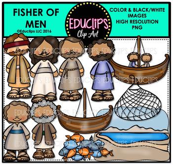 Bible Stories - Fisher Of Men Clip Art Bundle {Educlips Clipart}