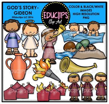 Bible Stories - God's Story: Gideon Clip Art Bundle {Educlips Clipart}