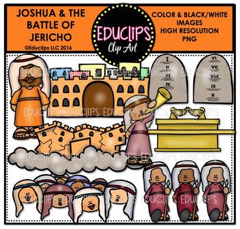 Bible Stories - The Battle Of Jericho Clip Art Bundle {Educlips Clipart}